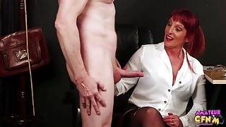 Beau Diamond's Cfnm Handjob Porn