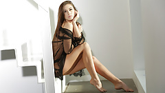 Horny Sabrisse makes herself moan