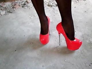 Stockings heels skirts milf tube Panties under the skirt, stockings and heels