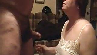 Cumming in fat granny's mouth