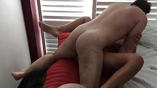 Wife cuckolds hubby in a hotel
