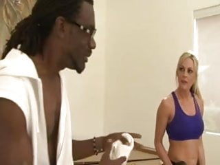 Hot blonde interracial Hot blonde milf takes trainers bbc