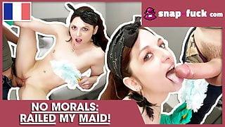 Husband fucks French maid (French Porn)! Snap-Fuck.com