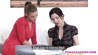 FemaleAgent Agents get horny testing new toys