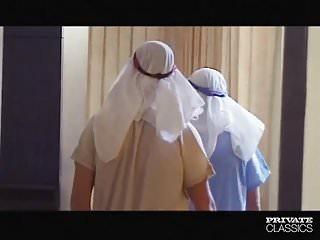 Naughty french maid threesome Demia moor, naughty maid enjoys dp