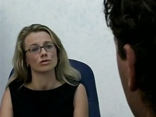 Wearing stockings footjob - Office anal wearing stockings and glasses.