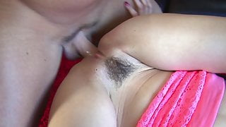 Hot brunette stepdaughter Riley Reid rides cock with her tight pussy