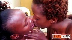 Real African Lesbians Passionately Kissing