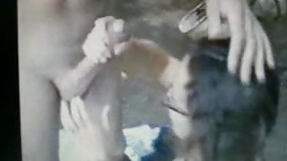 girl out doging finds a huge cock to suck