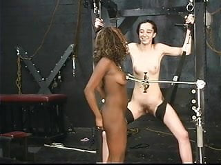 Milf sex videos ebony Ebony and ivory slaves get pussy checked with sharp tools in dungeon