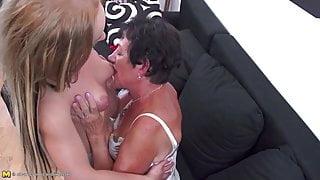 Mature moms teaching step daughters lesbian sex