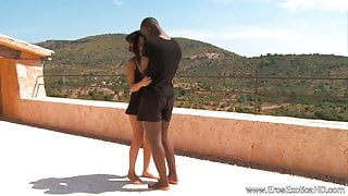 Making Love To Ebony Outdoors In Africa
