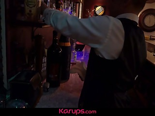 His cock stood at attention dripping Karups - anna kelly fucks bartender after stood up