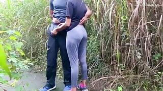 Very Risky Public Fuck With A Beautiful Girl at Jogging Park