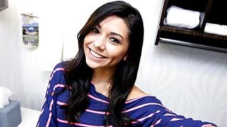 Hot Young Petite Latina Teen Fucked On Bathroom Sink POV