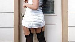 Atomickeeratic Asian Girl in Pantyhose