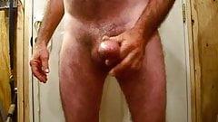 masturbating scarcock till the cum flies