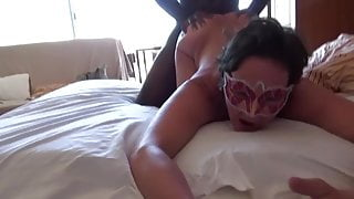Masked Granny Gets Blacked as Hubby Films