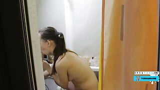 Spying on Squirting Stepsister Through Window