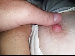 She licks her own pussy Wife gets me rock hard when she rubs her own hairy pussy