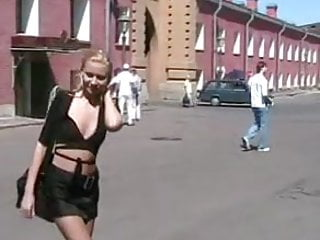 Cream her pussy in public Naughty in public blonde gal flashing her pussy in public