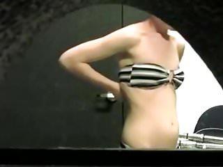 Cloth bikini post - Woman changes from bikini to clothes
