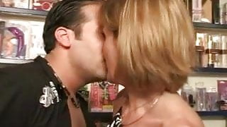 FRENCH MATURE 35 anal blonde stepmom milf and a younger man