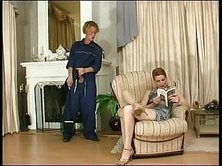 Hot mature russian lady and boy Russian lady and cleaner boy