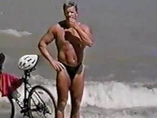Free gay men thong video clips - Men in thong on the beach