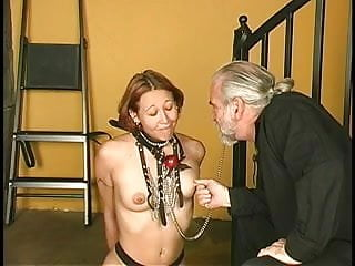 Wet crotch sex Sexy slave crotch roped,clamped and made cum