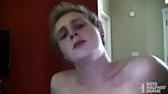 Blonde Teen Gets Face Fucked Then Finishes Rough Bareback