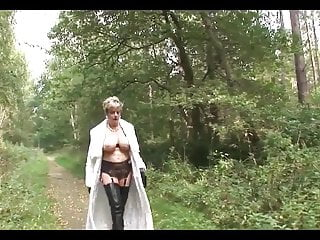 Bikini in tiger wife wood British trophy wife in the woods
