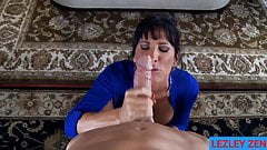 Unfaithful Wife Lezley Zen Spoils Dick with Thick Spit