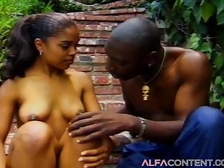 Hot hairy dicks Hot black babe enjoys a huge black dick