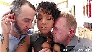 Jules Jordan - Honey Gold Gets Double Teamed