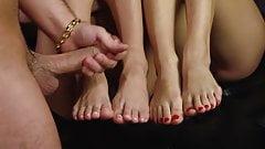 super hot foot fetish 3some cumshot
