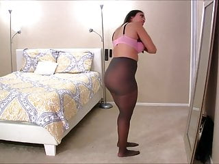 Naked waist - Latina high waist pantyhose creampie