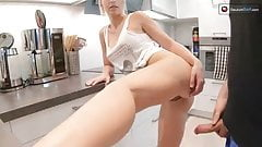 He Fucks My Tight Pussy With His Dick In The Kitchen
