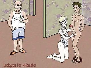 Jimmy and cidny porn cartoon Grandma, grandson and cuckold grandpa porn cartoon