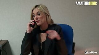 AMATEUREURO - French Mature Gets Fucked By Her Colleague