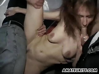 Reluctant mom gangbang Amateur mom gangbang with huge facial cumshots