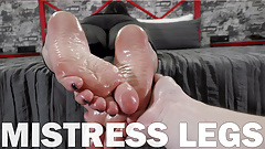 POV slave oils my soles and toes