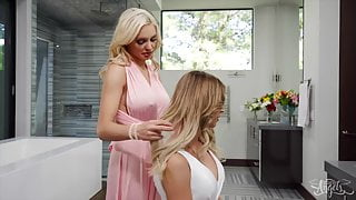 Cheating Wife Casey Kisses Fucks Kenzie Taylor Pussy