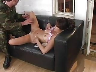 Asian in the military Charmane star fucks a military man