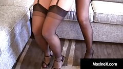 Creaming Cougar Maxine X Shoots Girly Cum With Nyssa Nevers!