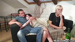 wifes mother is drunk and very horny