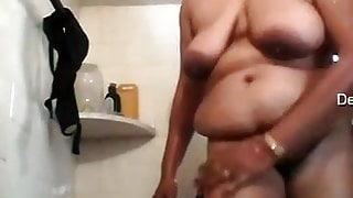 Brindha Nair Big Tits Indian Aunty In Shower