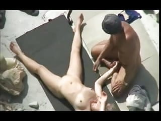 Rock godesses nude - Nude beach - mature play fuck on the rocks
