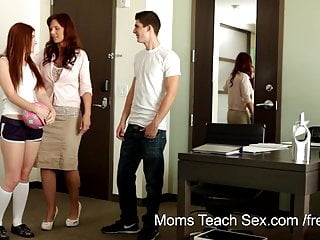 Redhead milf lessons Tiny tit redhead gets fucking lessons from mom