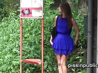 Men pissing in their pants videos Czech girls get caught pulling their pants and peeing at a b
